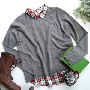 Stitch Fix Plaid Back Sweater Top